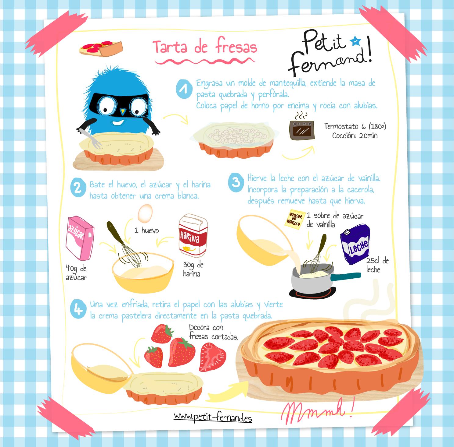 Receta Tarta de fresas