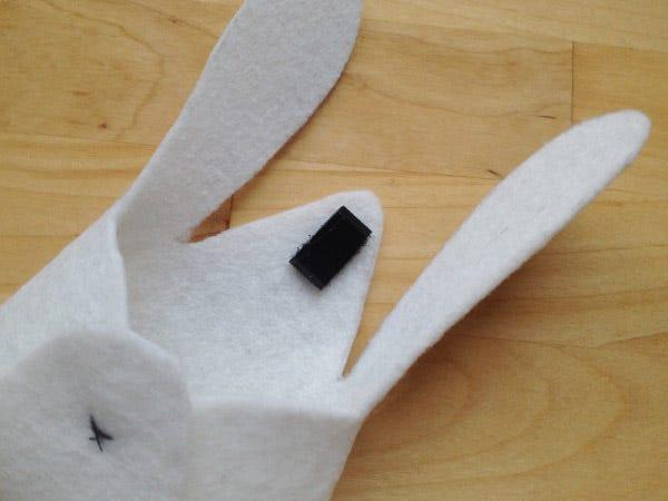 bolso para niños en forma de conejo DIY