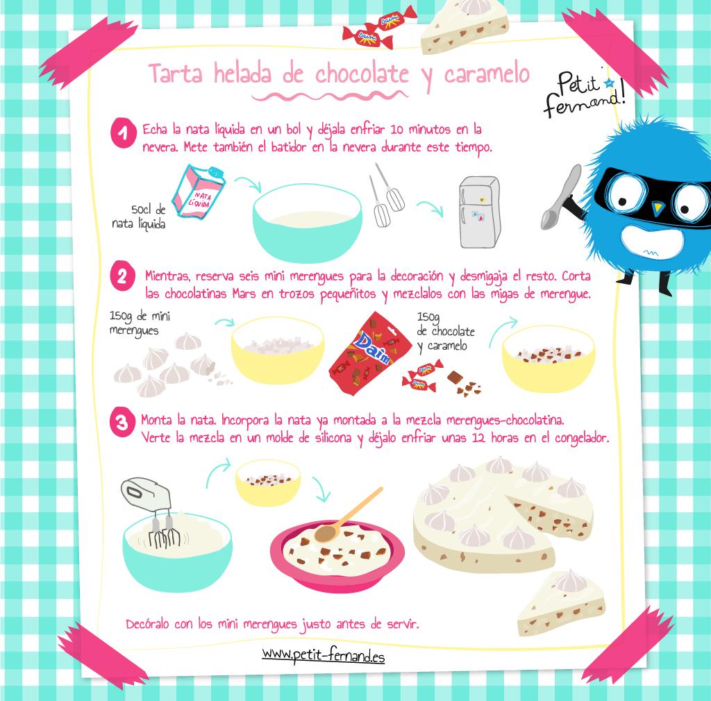 Receta de tarta helada