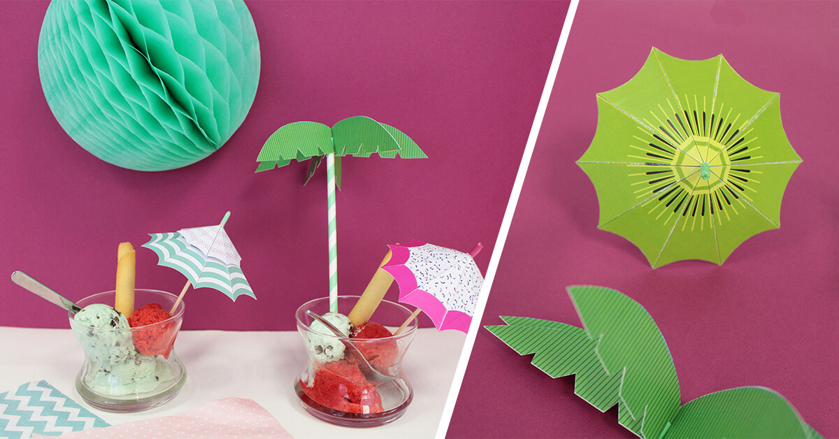 Sombrillas de papel DIY