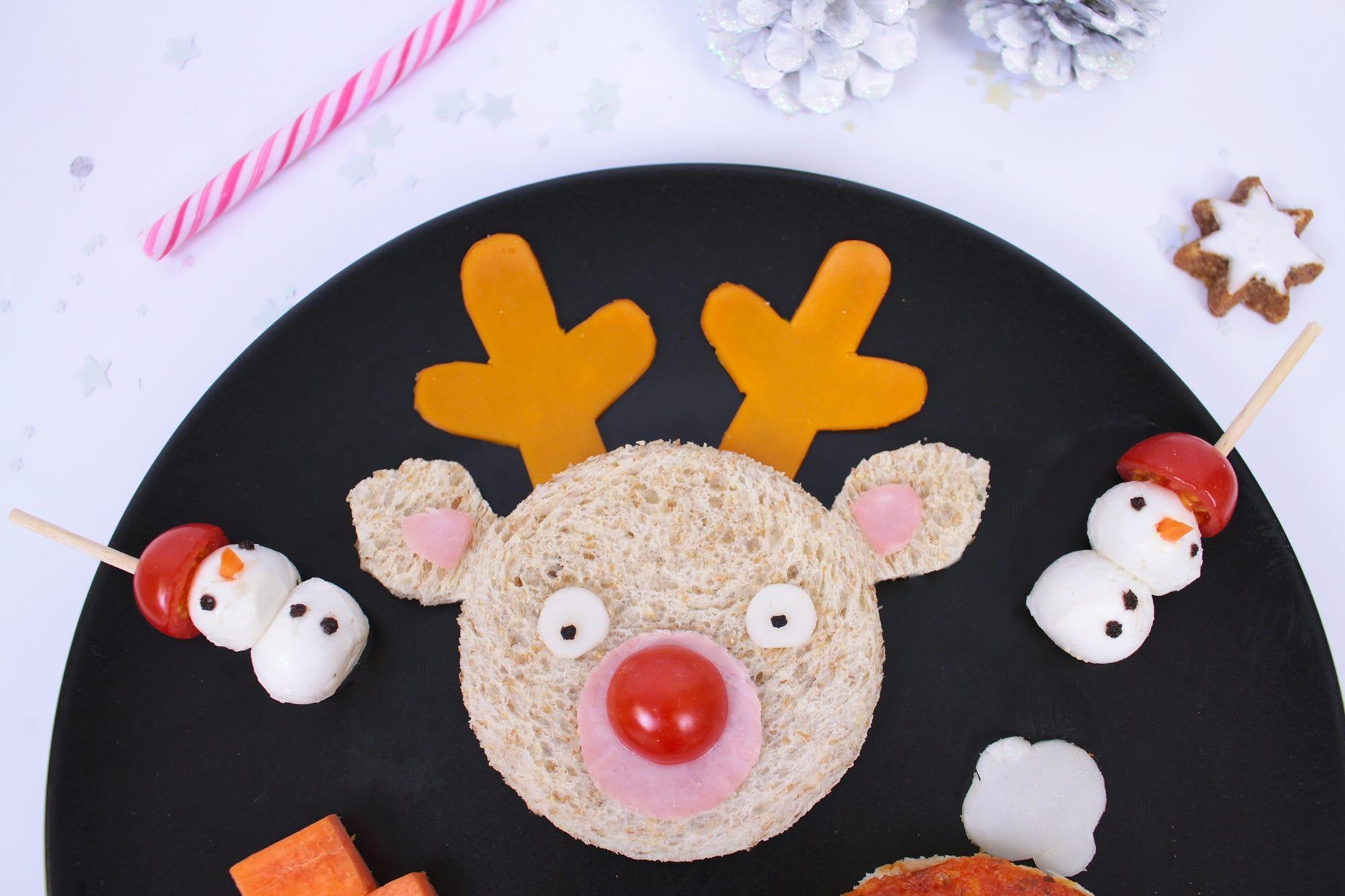 Fun food sandwich de Navidad