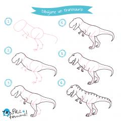 tiranosaurio rex para dibujar