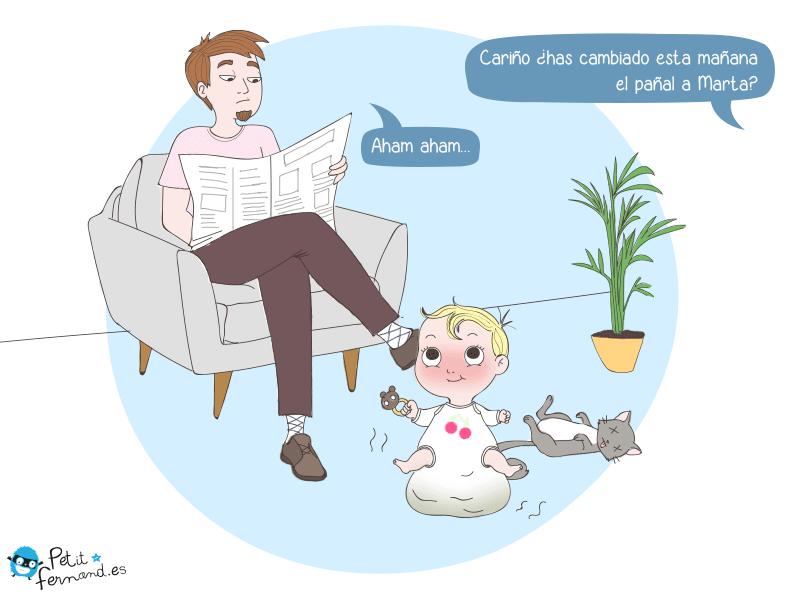 viñeta de humor para padres