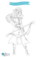 Dibujos De Fantasía Para Colorear Elfos Hadas Trolls