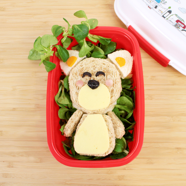 sandwich para niños forma oso