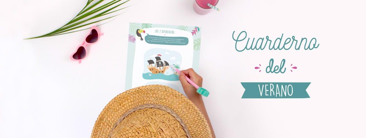 cuaderno de juegos para niños en vacaciones