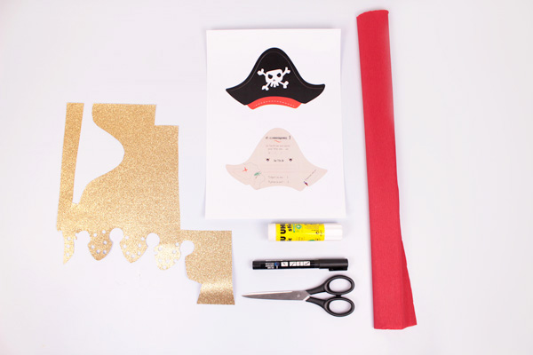DIY Invitaciones Pirata