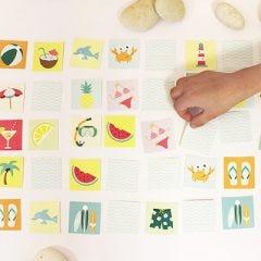juegos de memoria para niños en verano