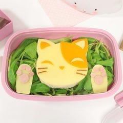meriendas divertidas: sandwich en forma de gato