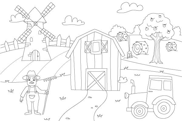 Dibujos Para Dibujar Y Colorear El Campo Y La Granja