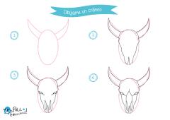 aprende a dibujar un craneo