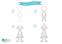como dibujar un marciano