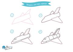 aprende a dibujar una nave espacial