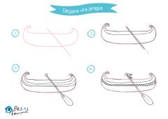 aprende a dibujar una piragua