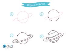dibuja y colorea un planeta