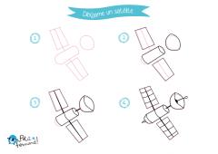 como dibujar un satélite