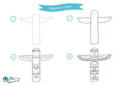 aprende a dibujar un totem paso a paso
