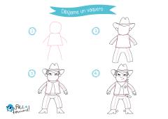 dibujos del lejano oeste para niños