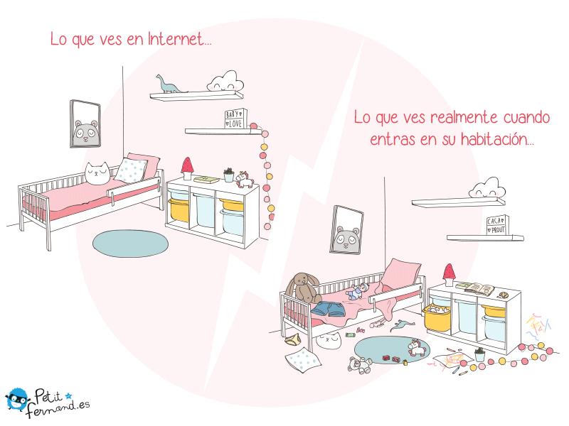 humor para padres: la realidad sobre la habitación de tus hijos