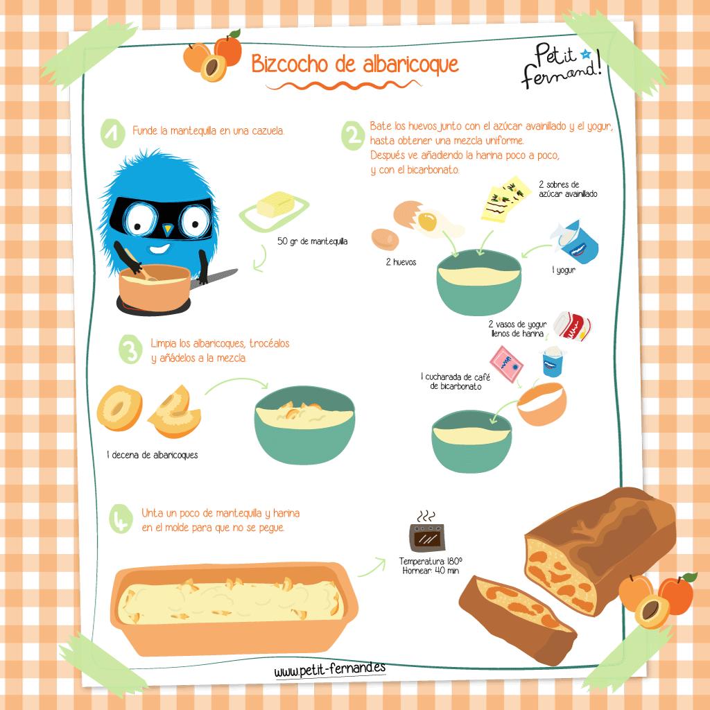 receta sencilla: tarta de albaricoque