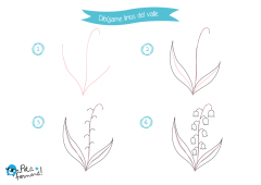 aprende a dibujar un lirio