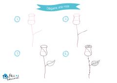 aprende a dibujar una rosa