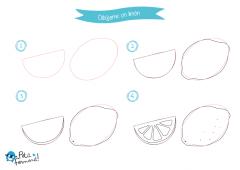 dibujar paso a paso un limón