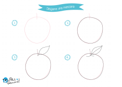 aprende a dibujar una manzana paso a paso