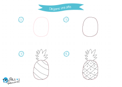 aprende a dibujar paso a paso una piña