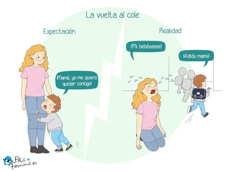 humor de padres la vuelta al cole