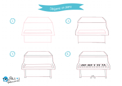 Dibuja paso a paso un instrumento musical