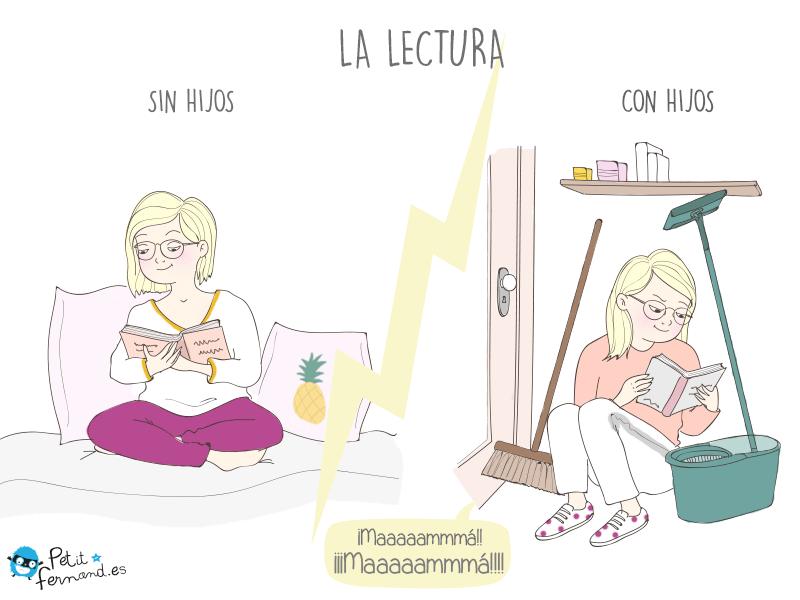 Momento de lectura de las mamás