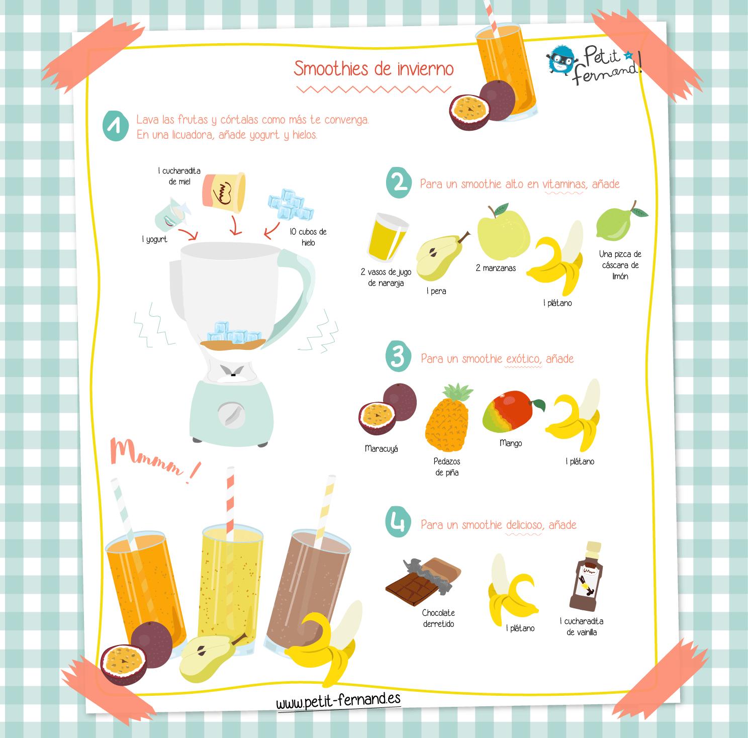Batido delicioso de frutas