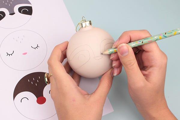 Esferas navideñas DIY