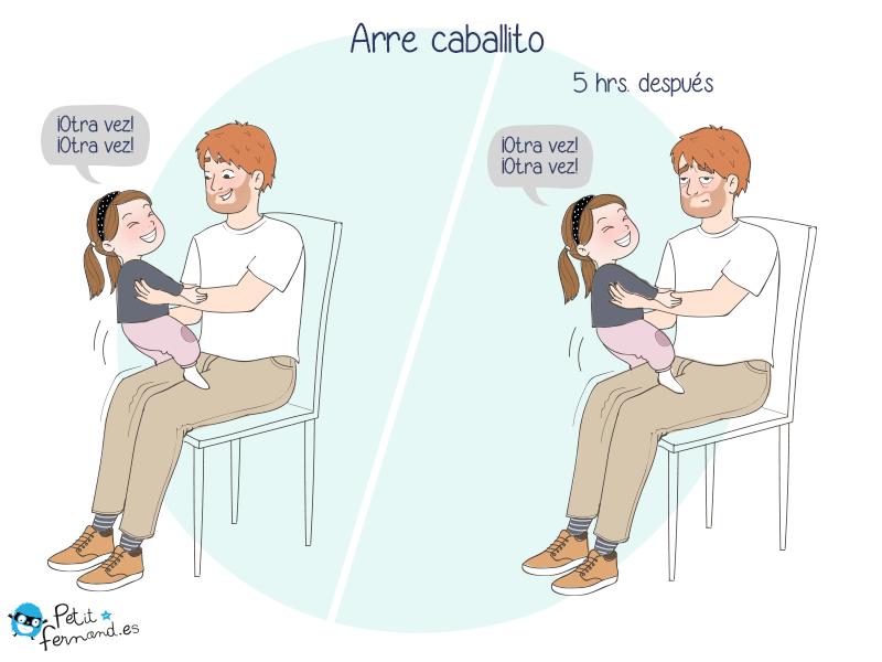 El juego de papá e hijos