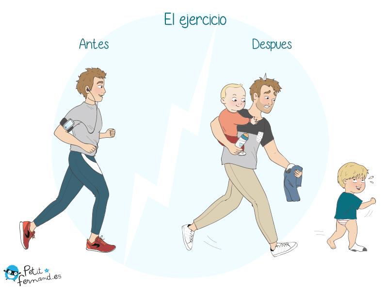 humor de padres el ejercicio
