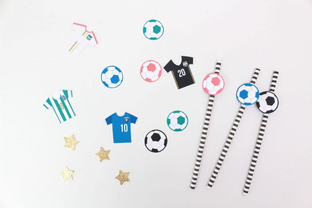 Kit cumpleaños con tema de futbol