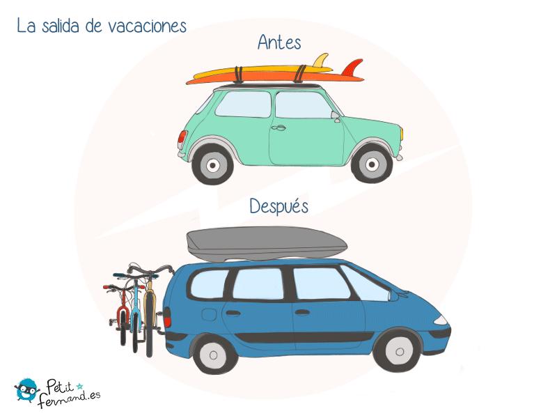 ¡Al tener hijos las salidas en coche de vacaciones ya no son las mismas!