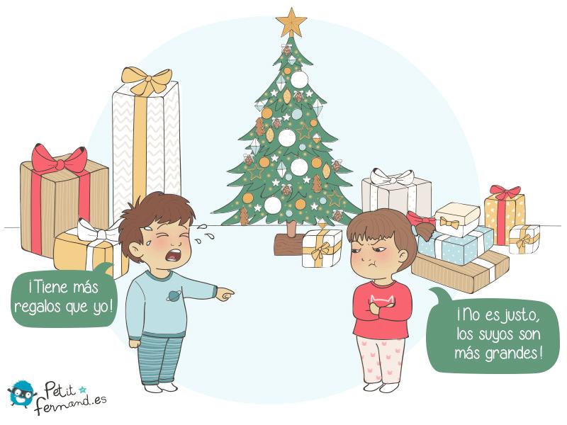 Regalos de Navidad con los niños