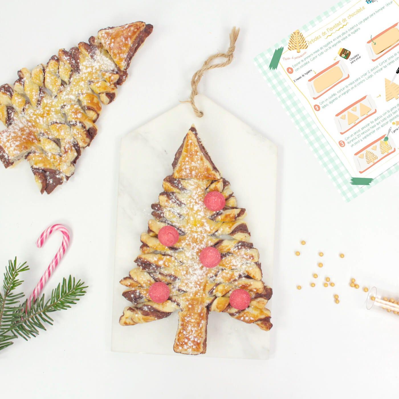 Receta árboles de Navidad de chocolate