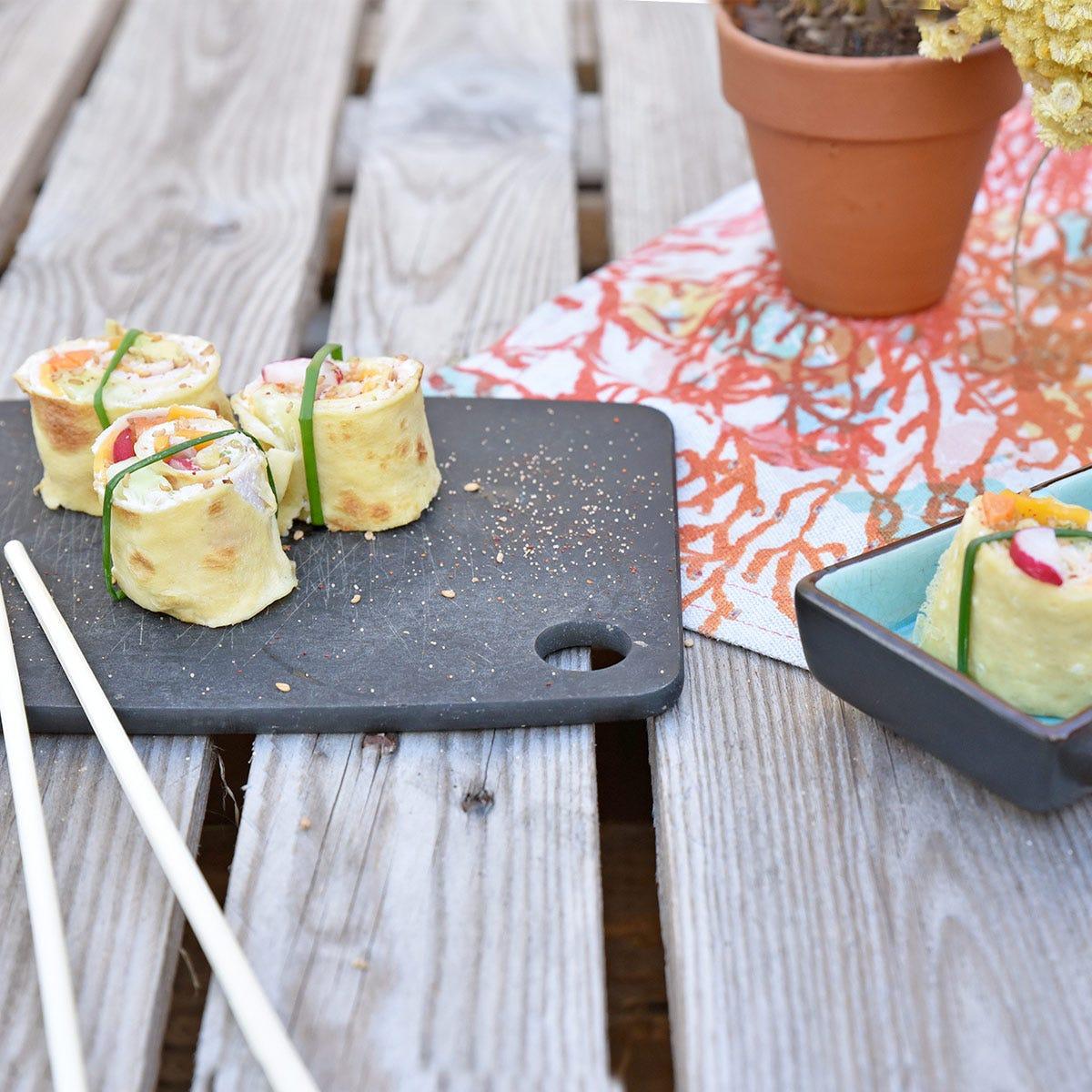 Una manera original de comer crepes: descubre nuestra receta de crepes saladas en makis.