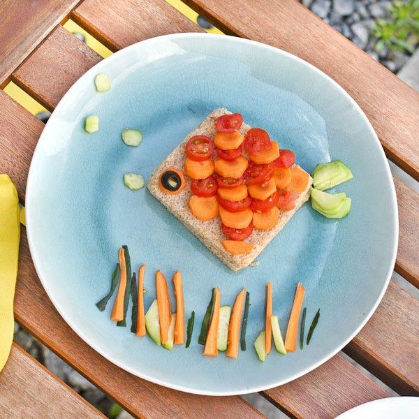 ¡Un sándwich con la forma de pez: ideal para los picnics de tus vacaciones!