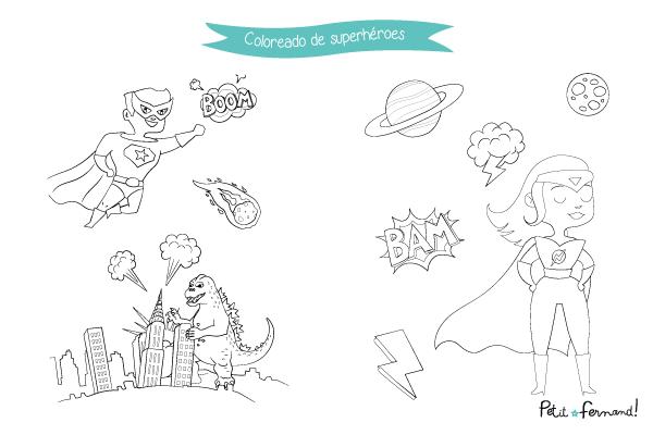 Saca los lápices y disfruta de nuestros nuevos coloreados sobre el tema de los superhéroes.