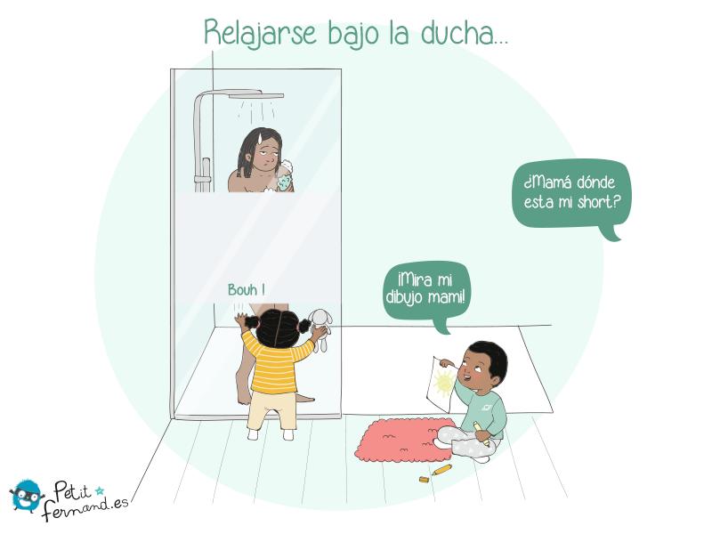 Cuando nos convertimos en padres, muchas veces podemos decirle adiós a nuestra intimidad, incluido en la ducha.