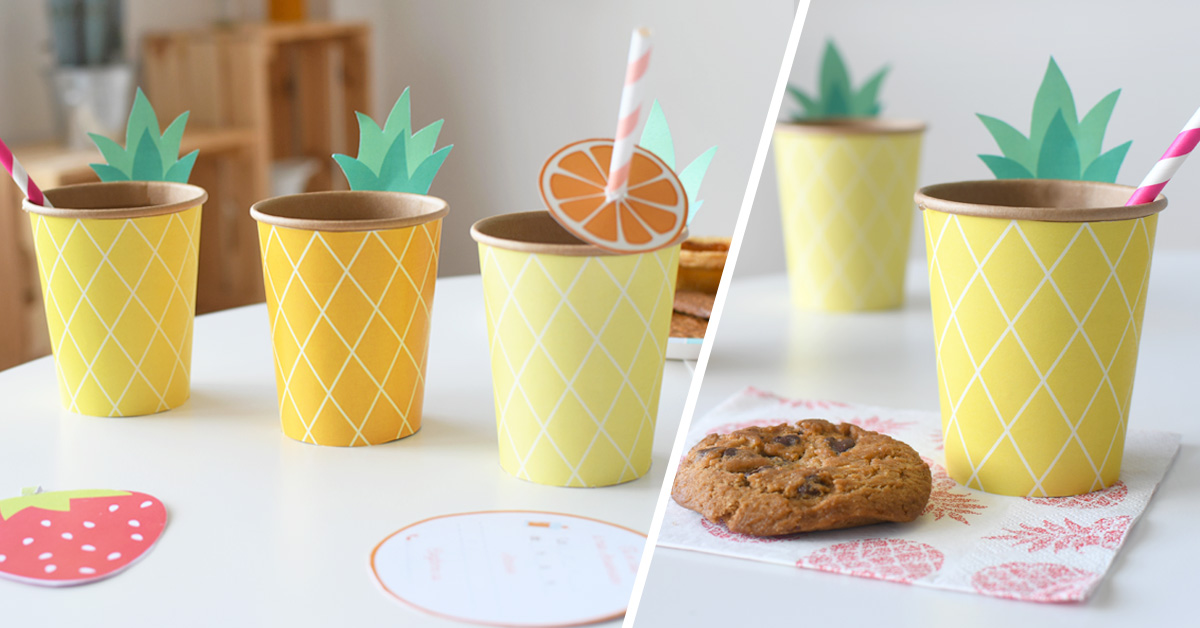 Sorprende a sus invitados con estos bonitos vasos personalizados y colorados para la merienda de cumpleaños de sus hijos.