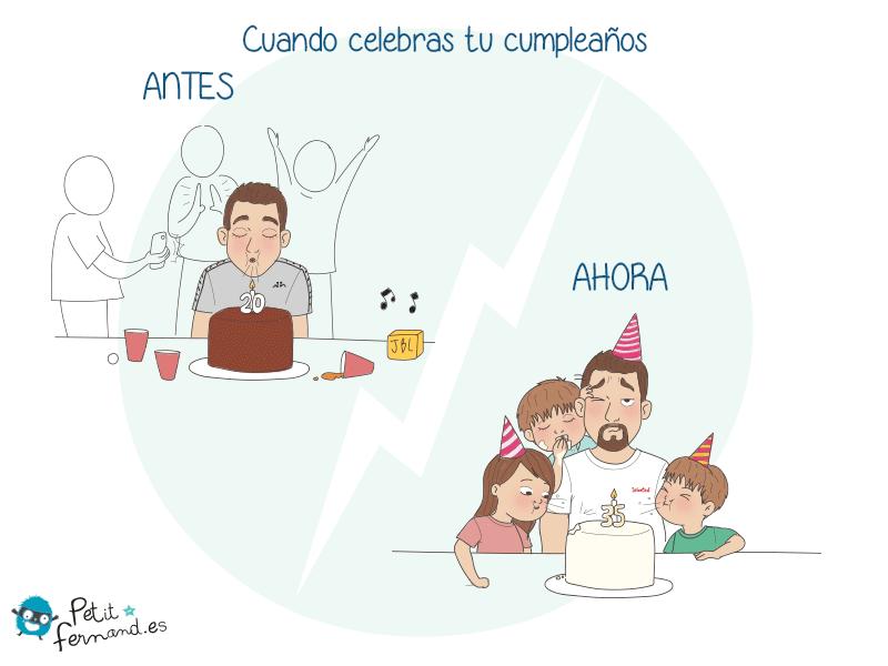 Cuando te convierte en padre, hay muchas cosas que cambian: ¡hasta sus cumpleaños!