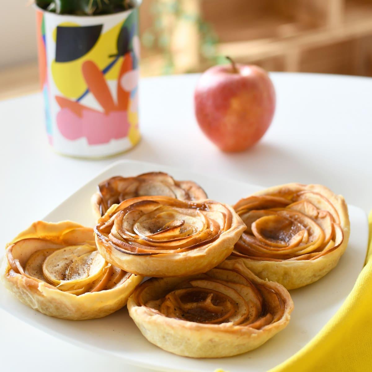 Deliciosa receta de tartaletas con manzanas y caramelo.