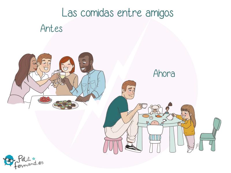 Los peluches son una parte tan importante de la familia que ahora tus hijos los invitan a cenar.