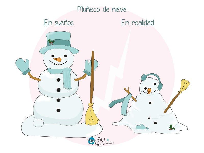 Cuando nieva, nuestros hijos a menudo están emocionadísimos con la idea de hacer un muñeco de nieve, ¡poco importa el resultado final!