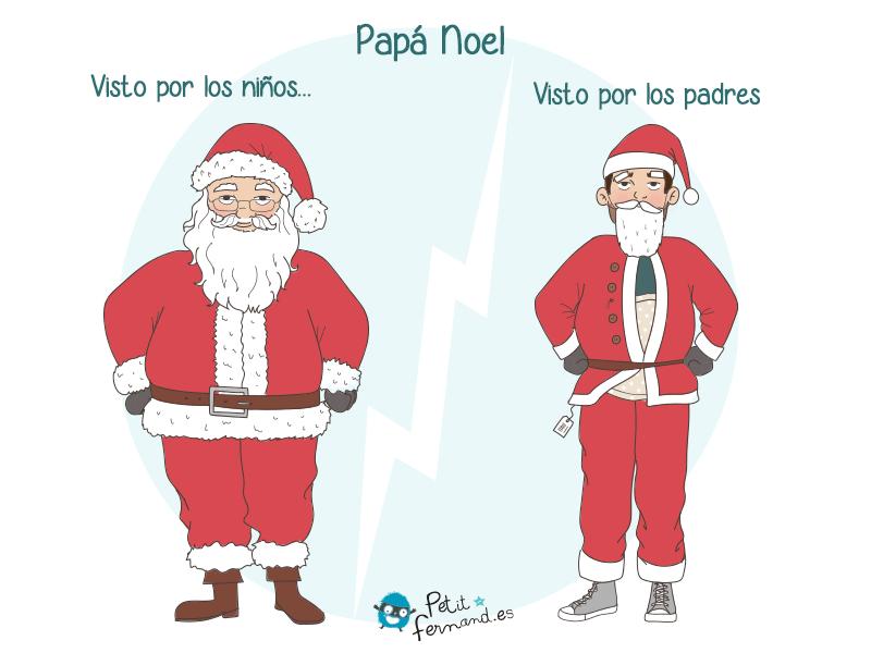 ¿Quién hay detrás del disfraz de Papá Noel?